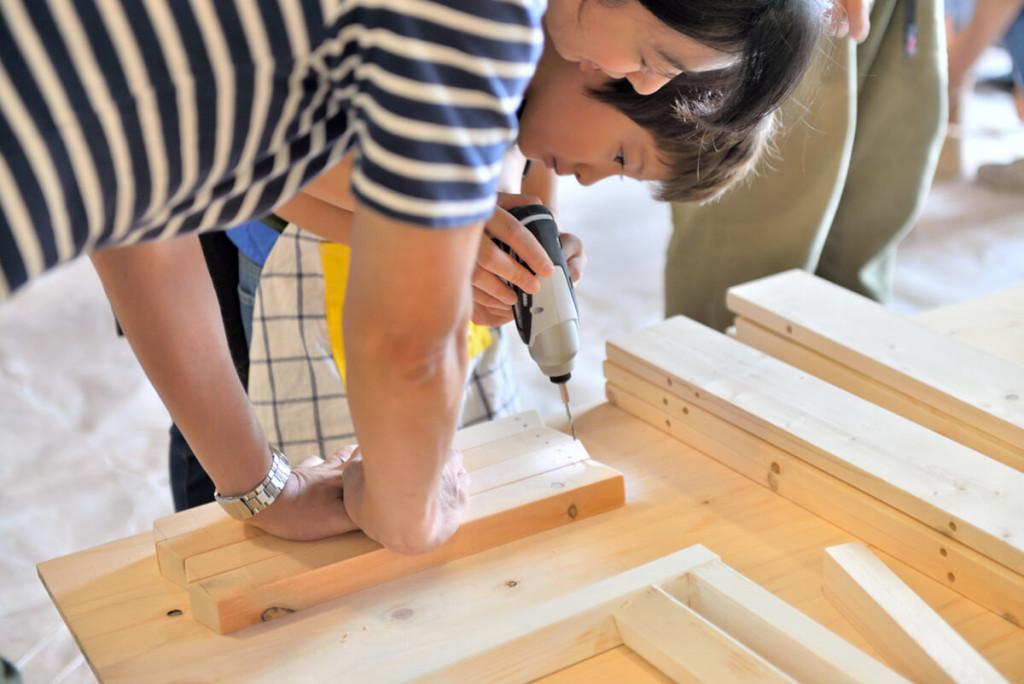 イベントレポート 「DIY体験!大工さんとテーブルづくりワークショップ」写真06