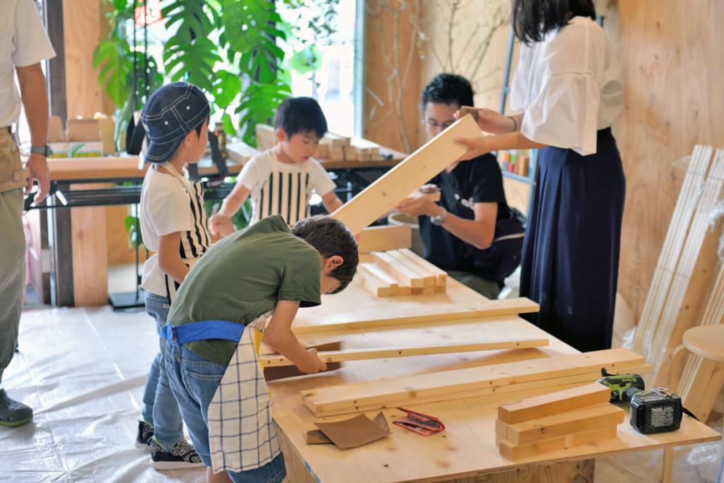 イベントレポート 「DIY体験!大工さんとテーブルづくりワークショップ」写真03