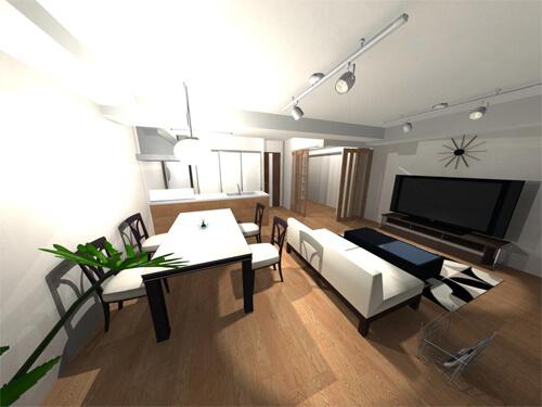 中古マンション+リノベーションレポ①プランを決める!編  対面オープンキッチンと収納でつくるスッキリ空間