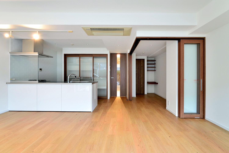 中古マンション+リノベーションレポ②完成編 対面オープンキッチンと収納でつくるスッキリ空間