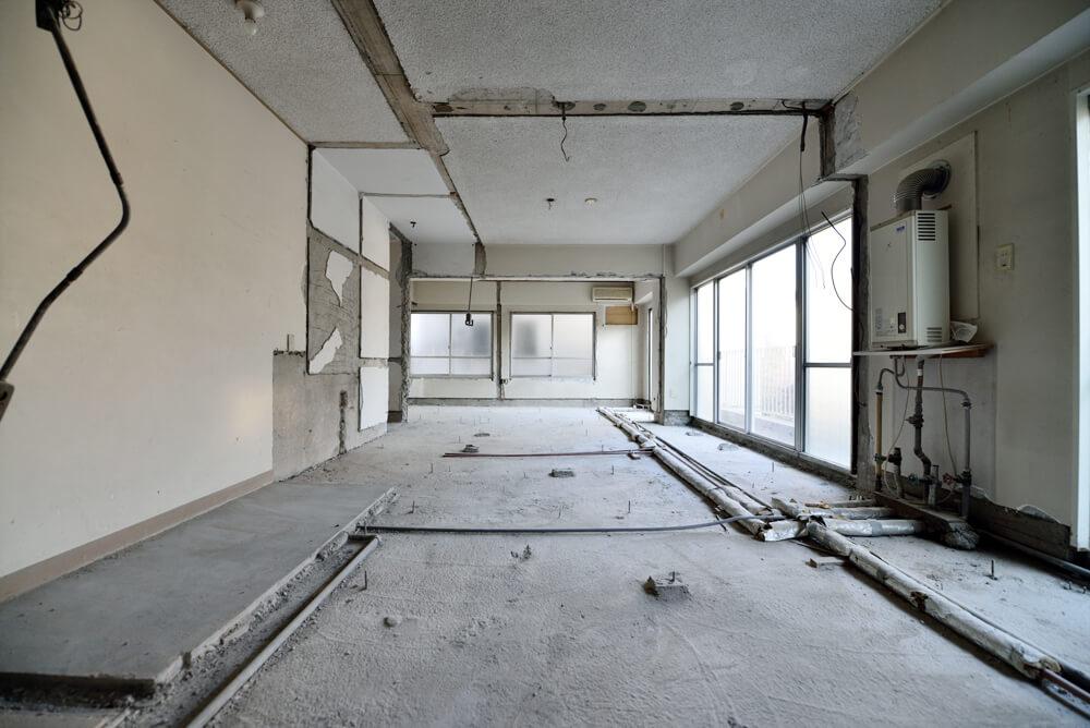 リノベ施工現場レポート:施工管理の面白さ写真⑪フルスケルトン