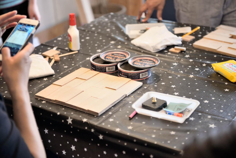 イベントレポート「DIY体験!木の時計づくりワークショップ」で手作りをインテリアに写真13