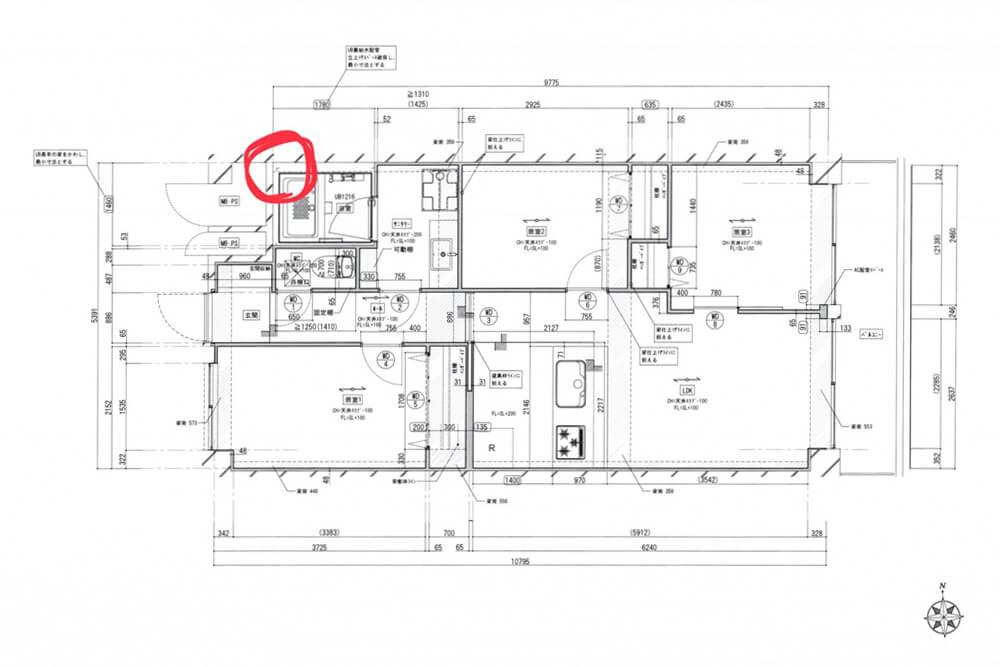 Cuestudioがつくるリノベーション済みマンション物件の工事が始まりました ②現場レポ:配線・配管~床の下地組写真:3+1500