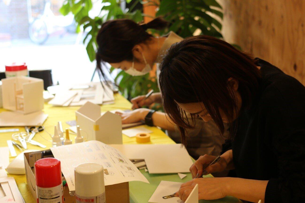 キュースタジオで模型造りワークショップ開催!!-4