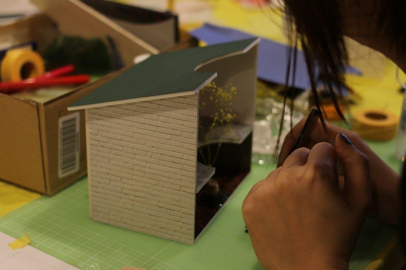 キュースタジオで模型造りワークショップ開催!!-7