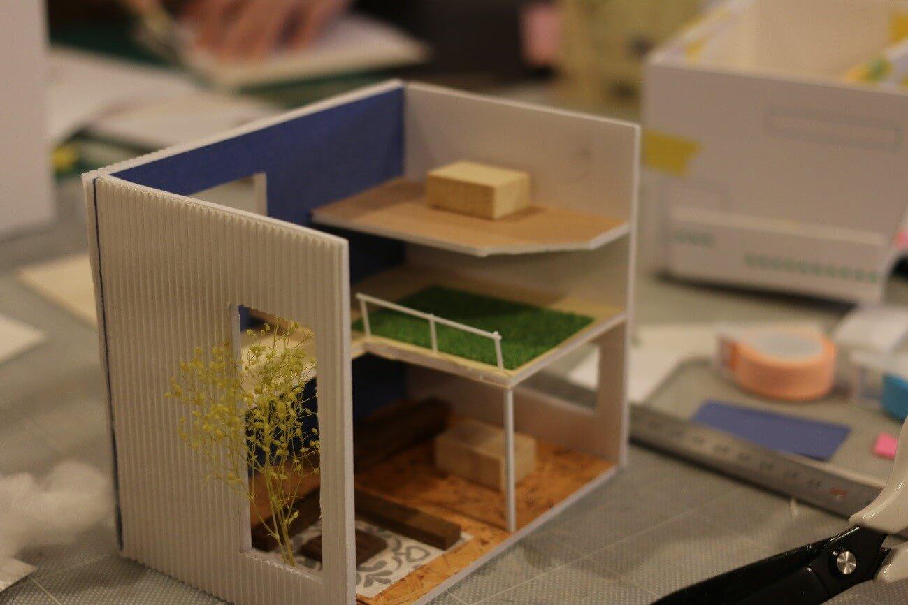 キュースタジオで模型造りワークショップ開催!!-8