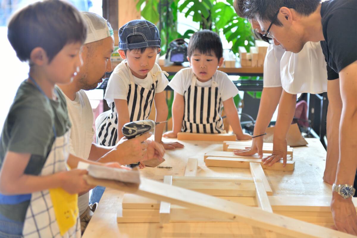 イベントレポート 「DIY体験!大工さんとテーブルづくりワークショップ」写真00