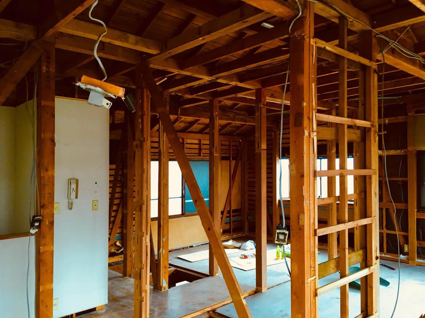 リノベーション現場レポート:マンションだけではないんです!戸建フルリノベーション計画始動!奥沢Y邸工事着工と構造のコト